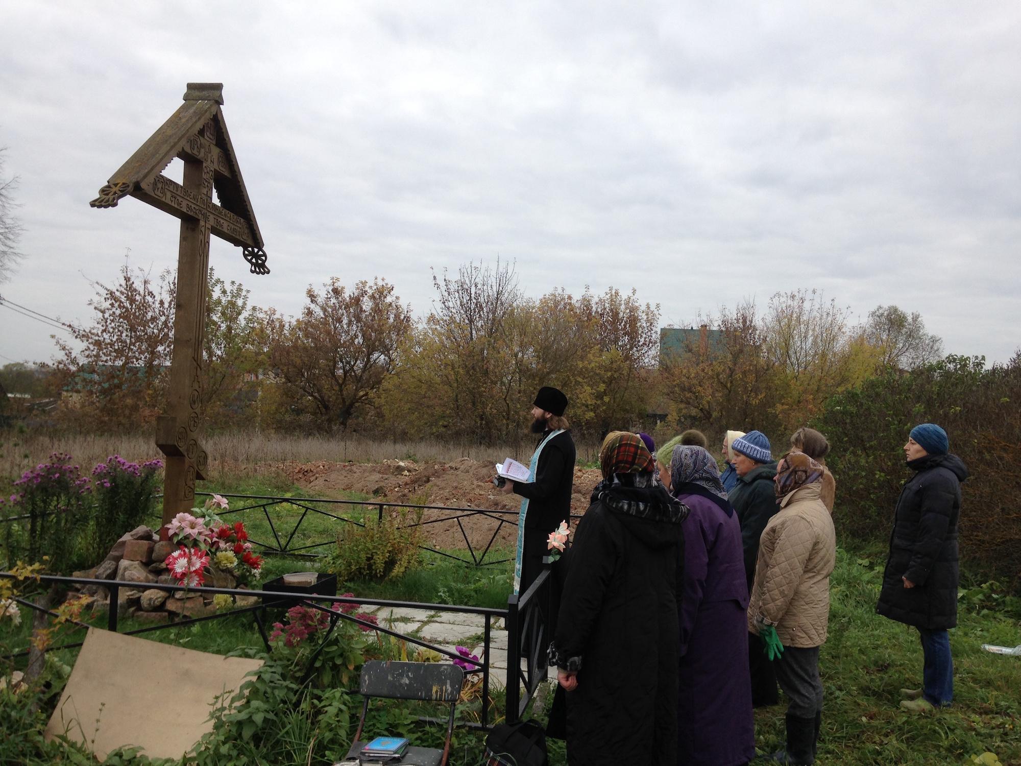 Молебен в селе Троицкие Озерки