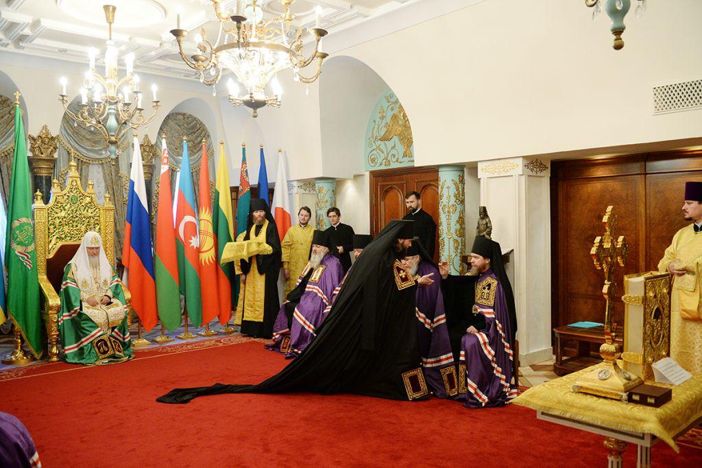 Наречение архимандрита Петра (Дмитриева) во епископа Луховицкого, викария Московской епархии