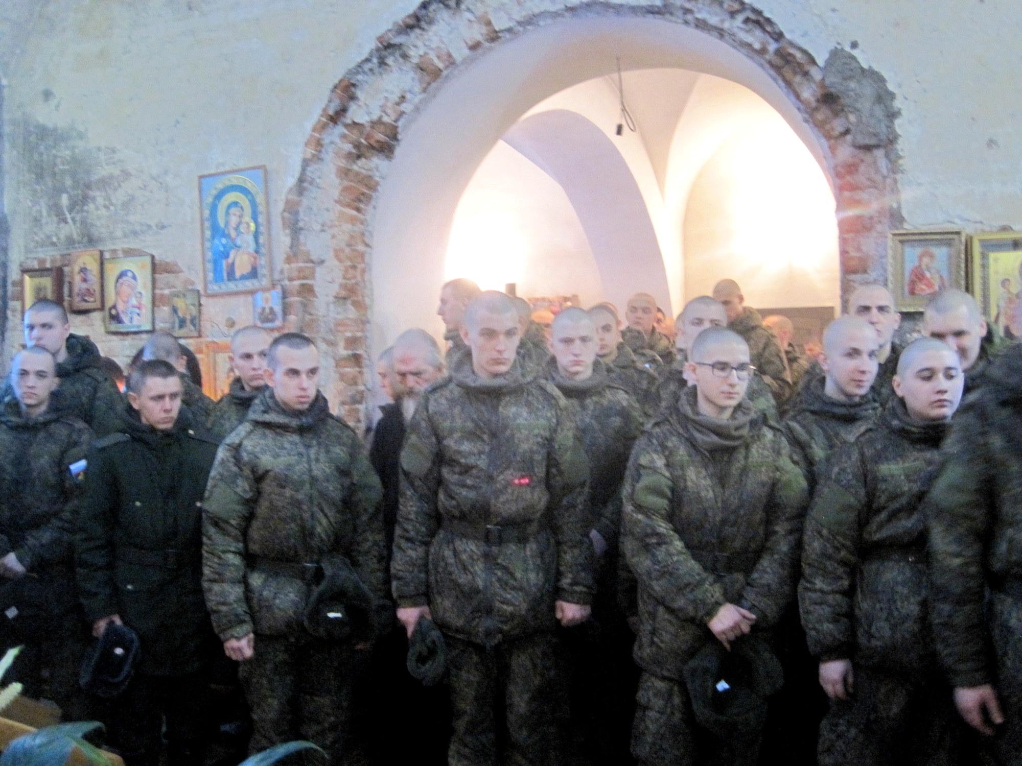 Причастие Святых Христовых Тайн военнослужащих войсковой части
