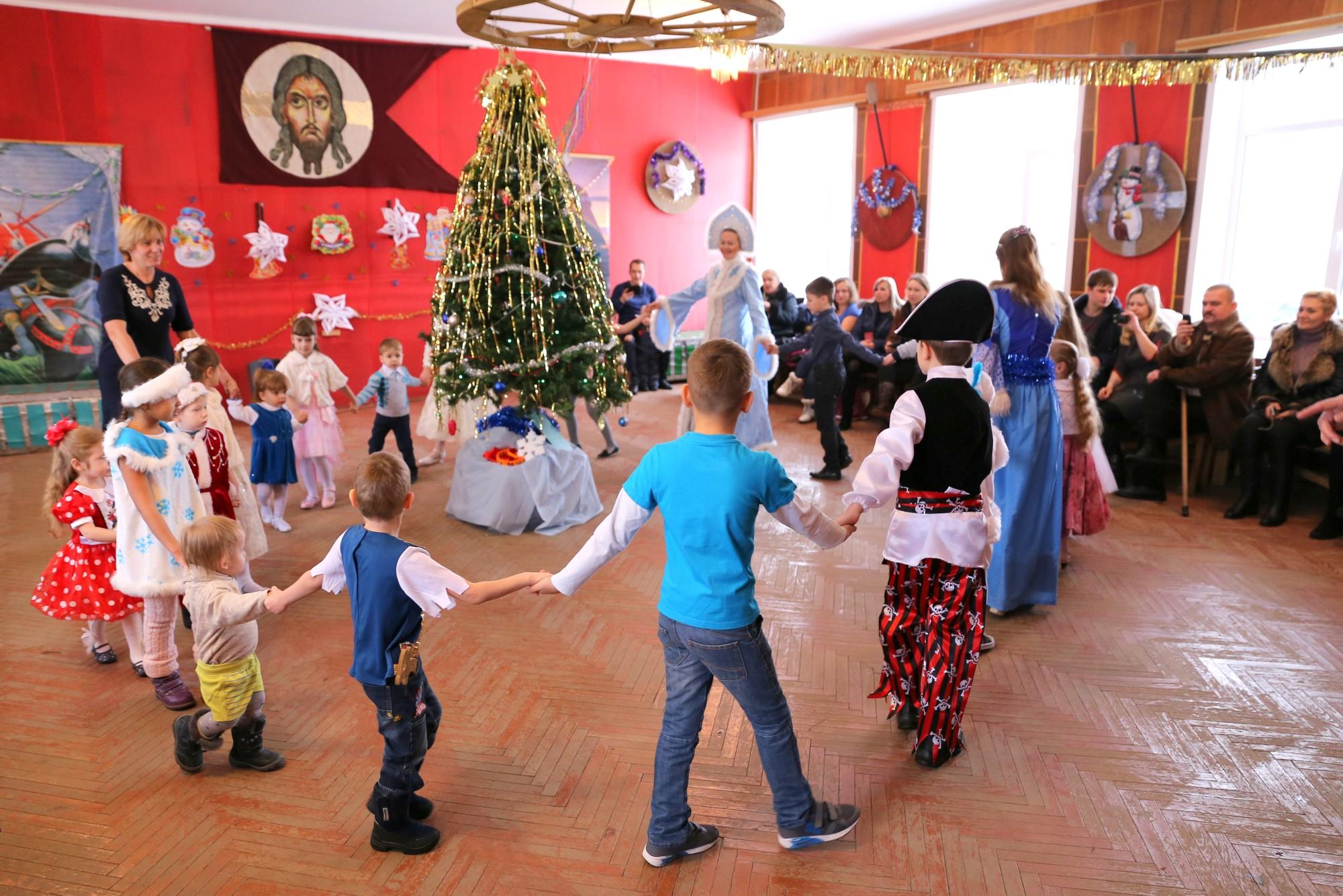 Детский новогодний праздник в селе Никульское