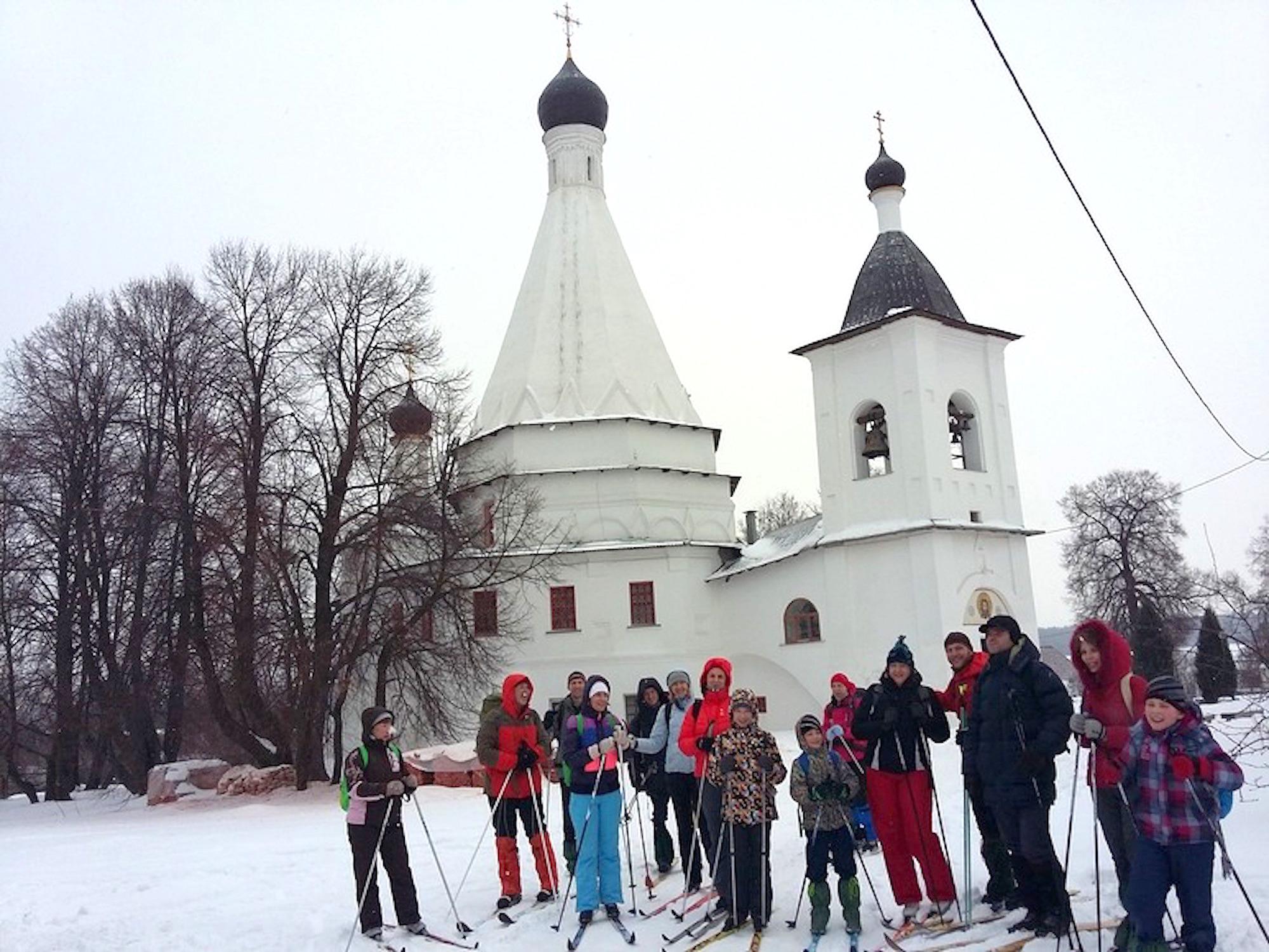 Лыжное паломничество в села Городня и Шкинь