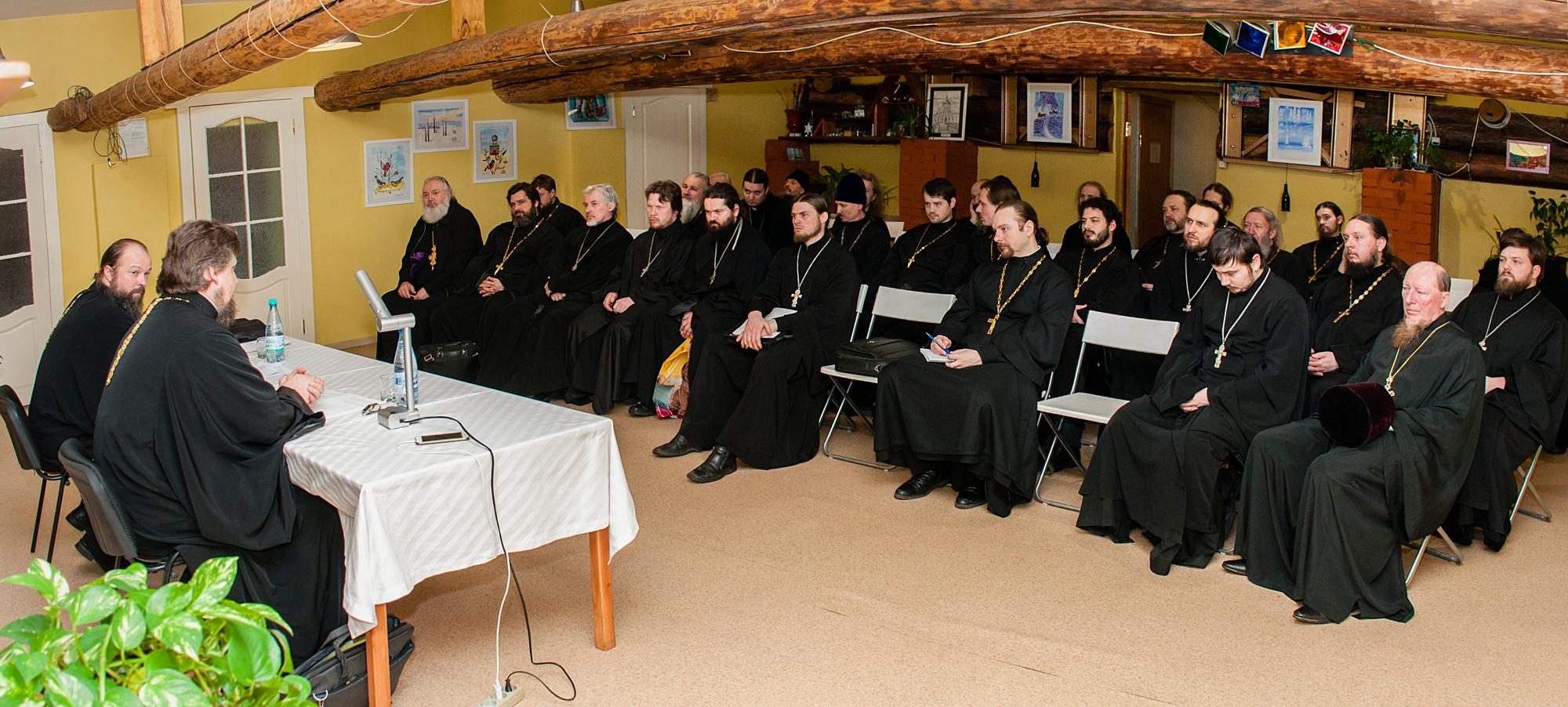 Пастырский семинар в Михаило-Архангельском храме города Коломны