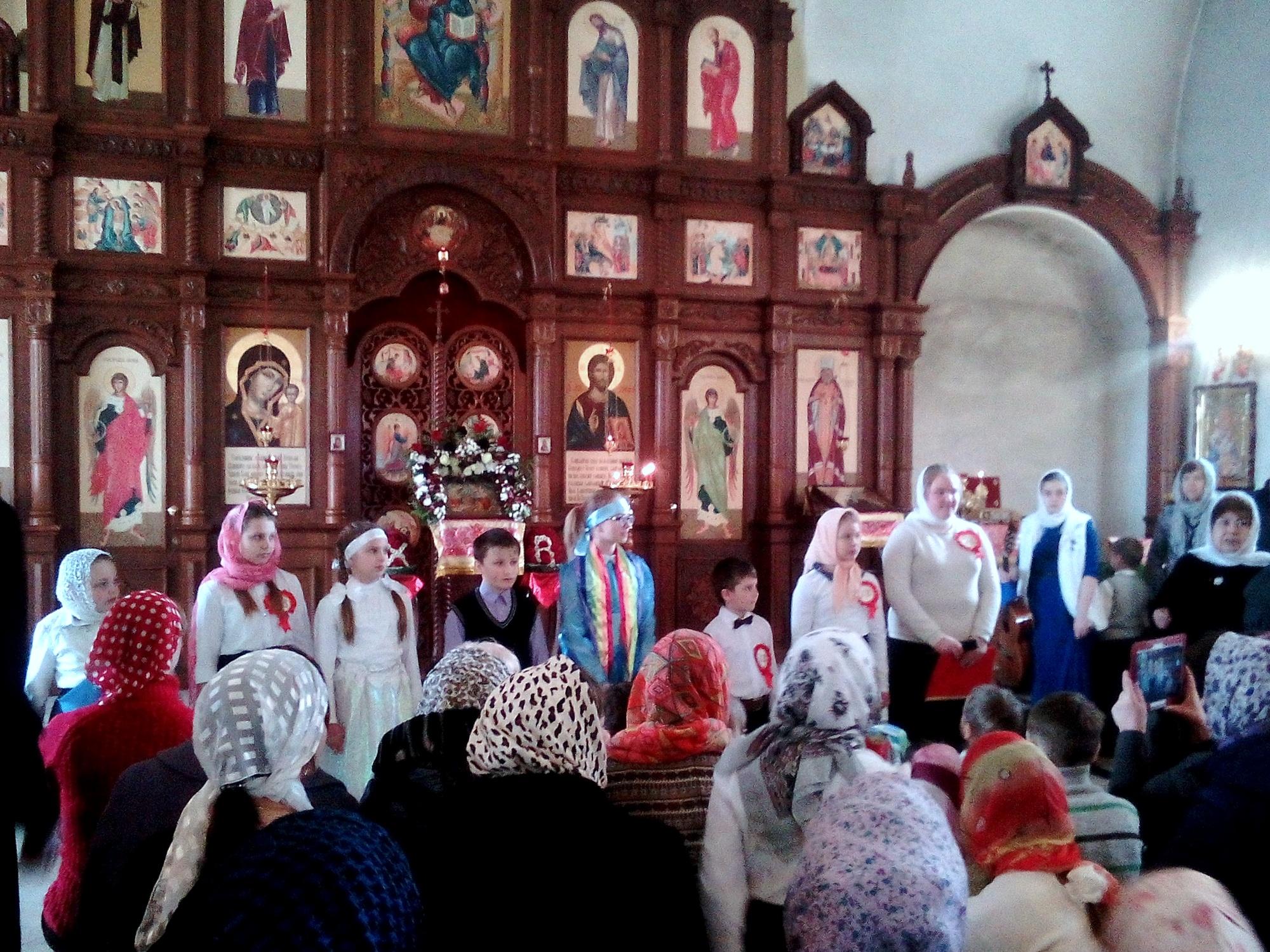 Пасхальный детский праздник на приходе Казанского храма поселка Радужный