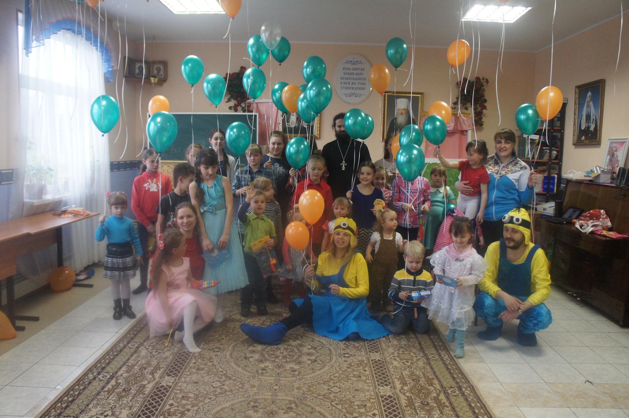 Пасхальный детский праздник на приходе Казанского храма деревни Богдановка