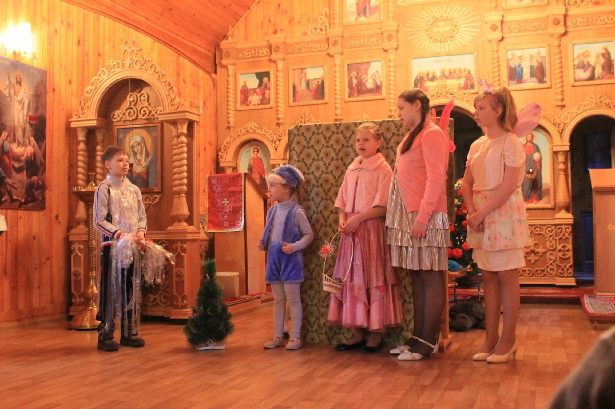Пасхальный детский праздник на приходе Воскресенского храма села Васильево