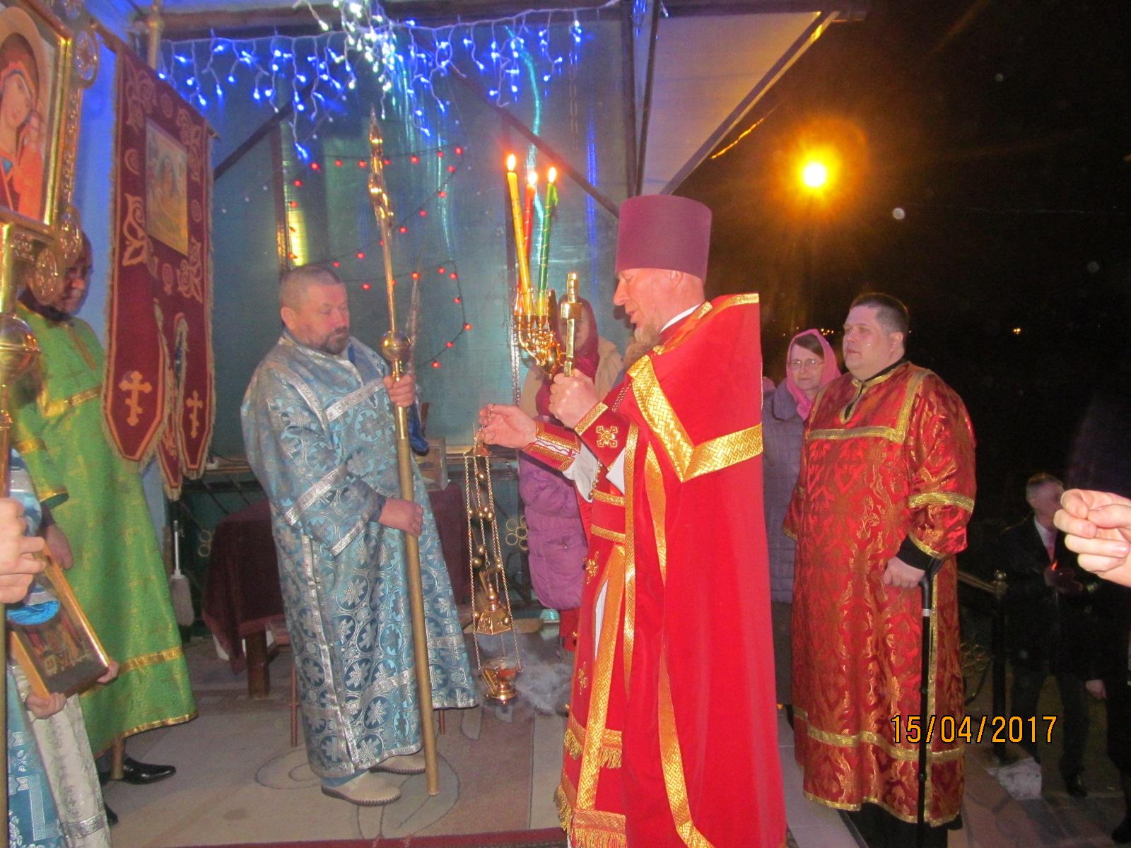 Пасха на приходе Введенского храма села Чанки