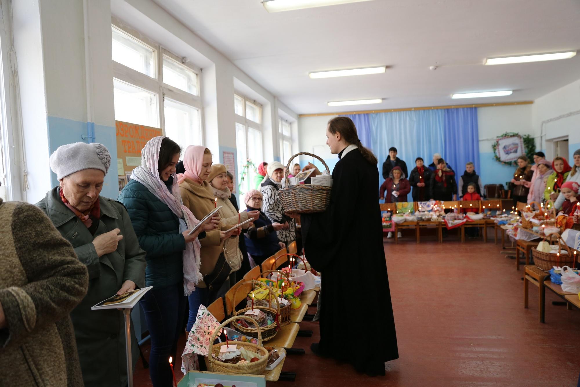 Акция «Пасхальная весть» на приходе Покровского храма села Никульское
