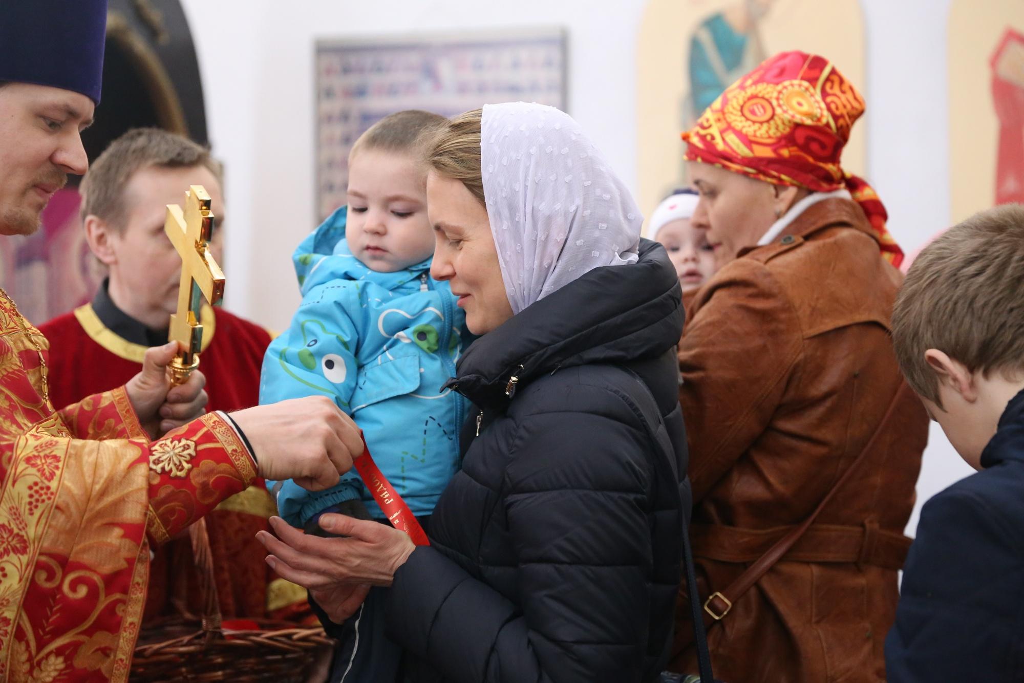 Миссионерская акция «Пасхальная ленточка» на приходе Покровского храма села Никульское