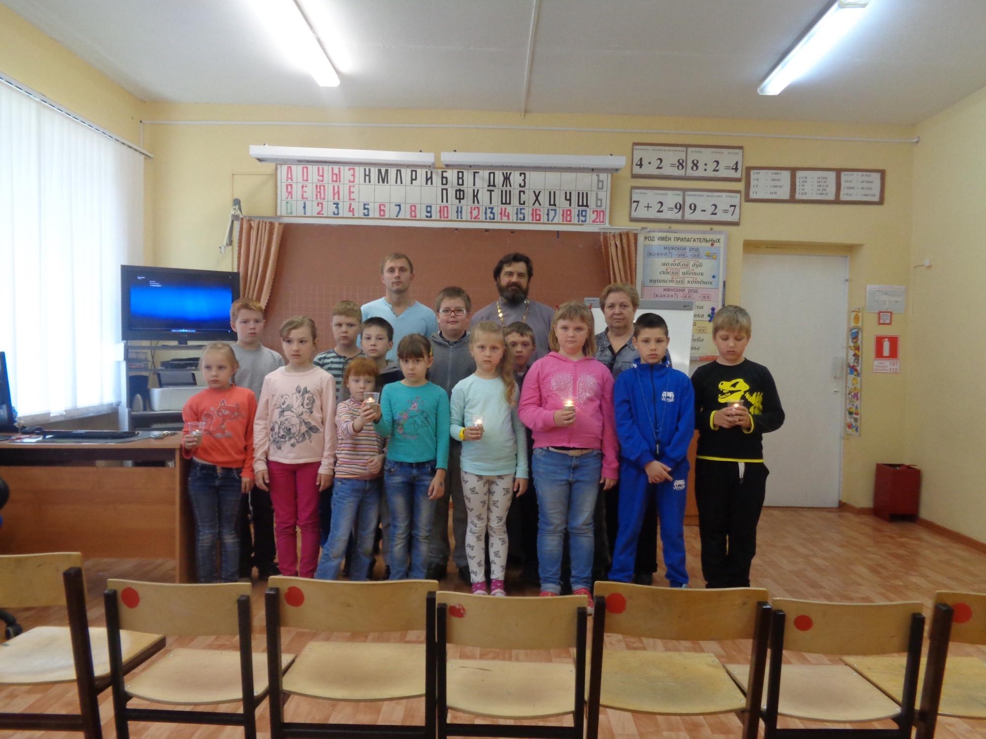 Беседа «Дети в первые дни войны» в Сосново-Борской средней школе