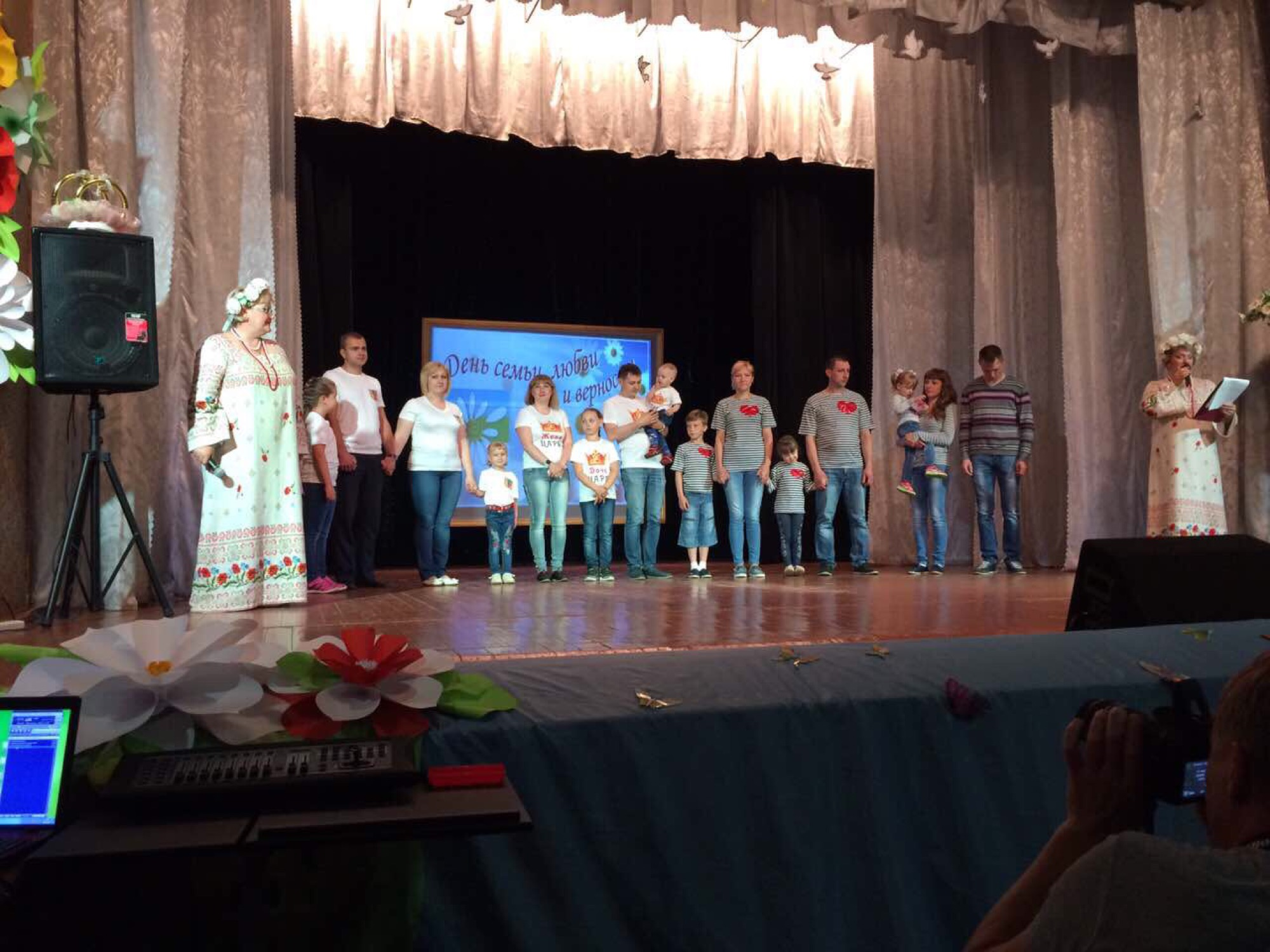 День семьи, любви, и верности на приходе Воскресенского храма села Васильево
