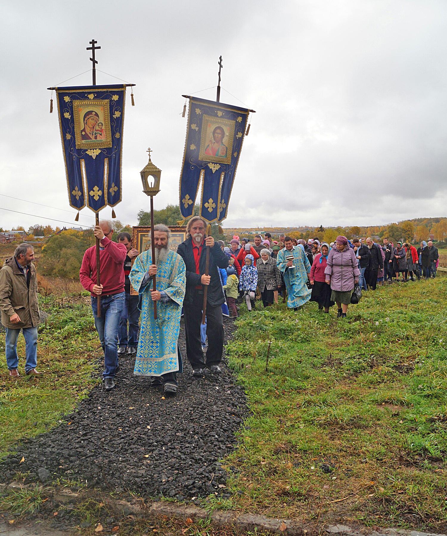 Престольный праздник в Покровском храме села Лысцево