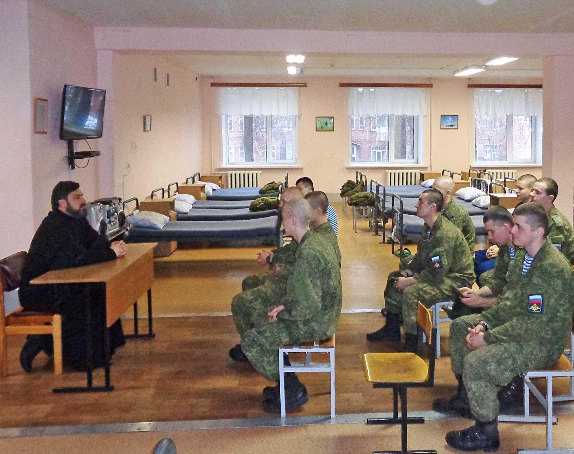 Беседа с воинами-десантниками