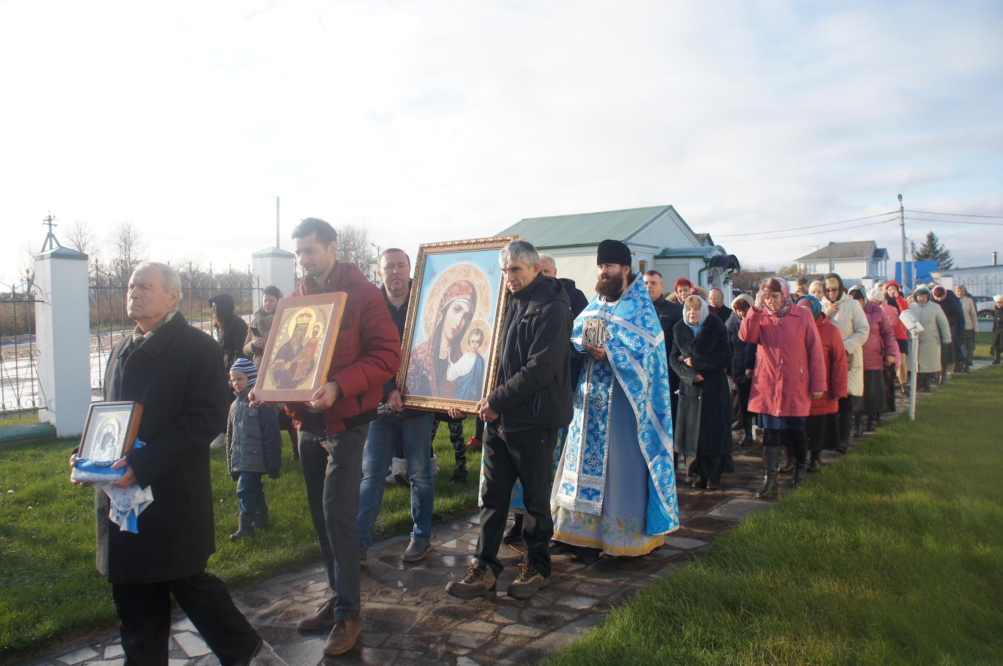Престольный праздник в Казанском храме деревни Богдановка