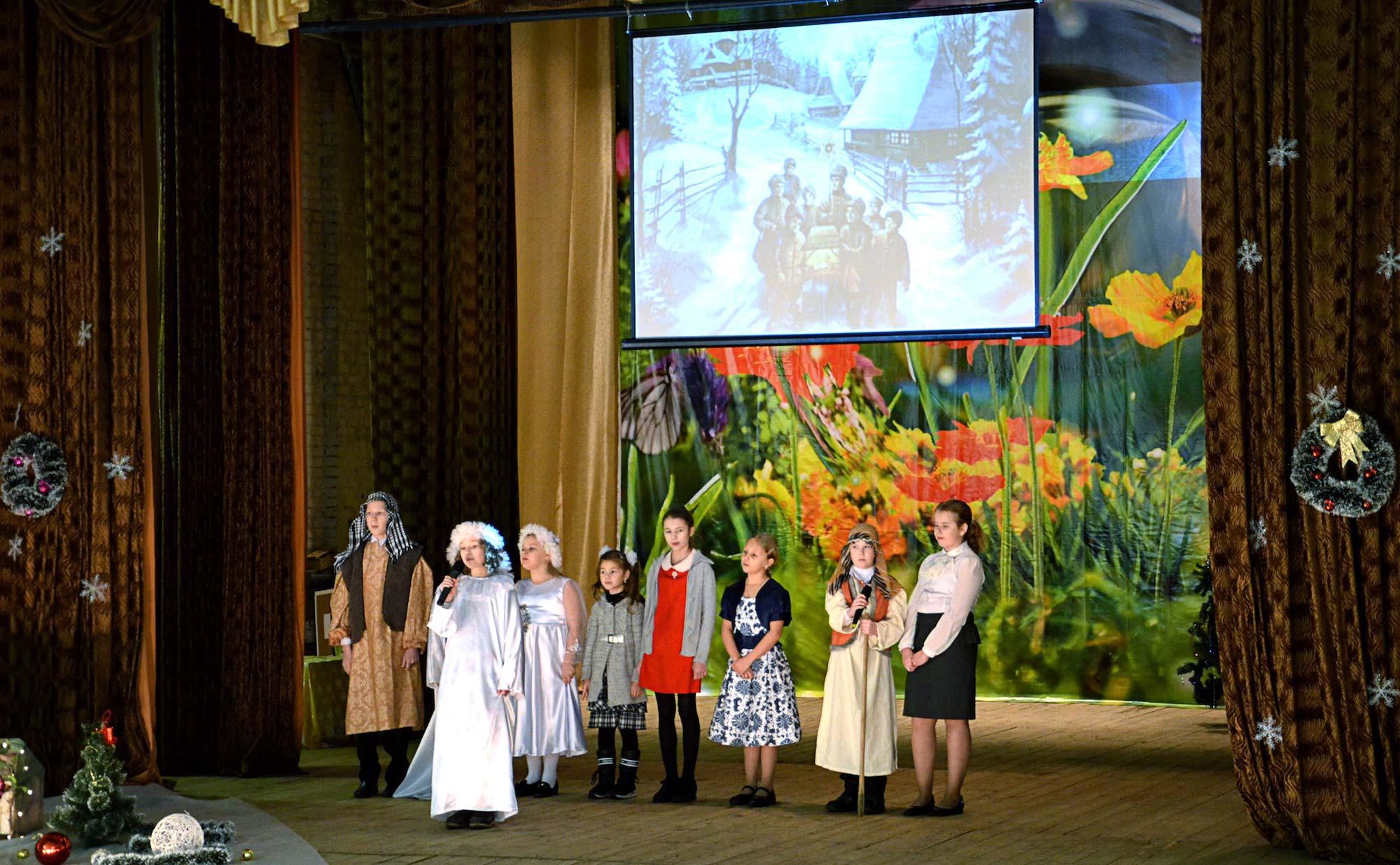 Рождественский концерт в Сельниковском сельском доме культуры