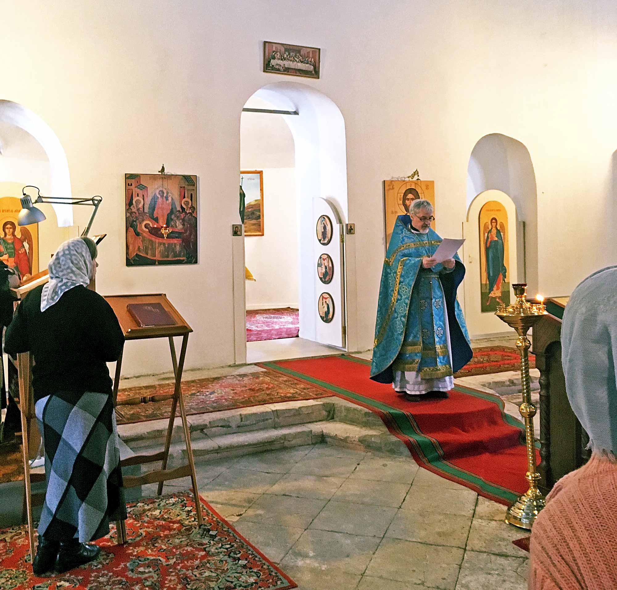 Праздник Сретения Господня в Успенском храме села Андреевское
