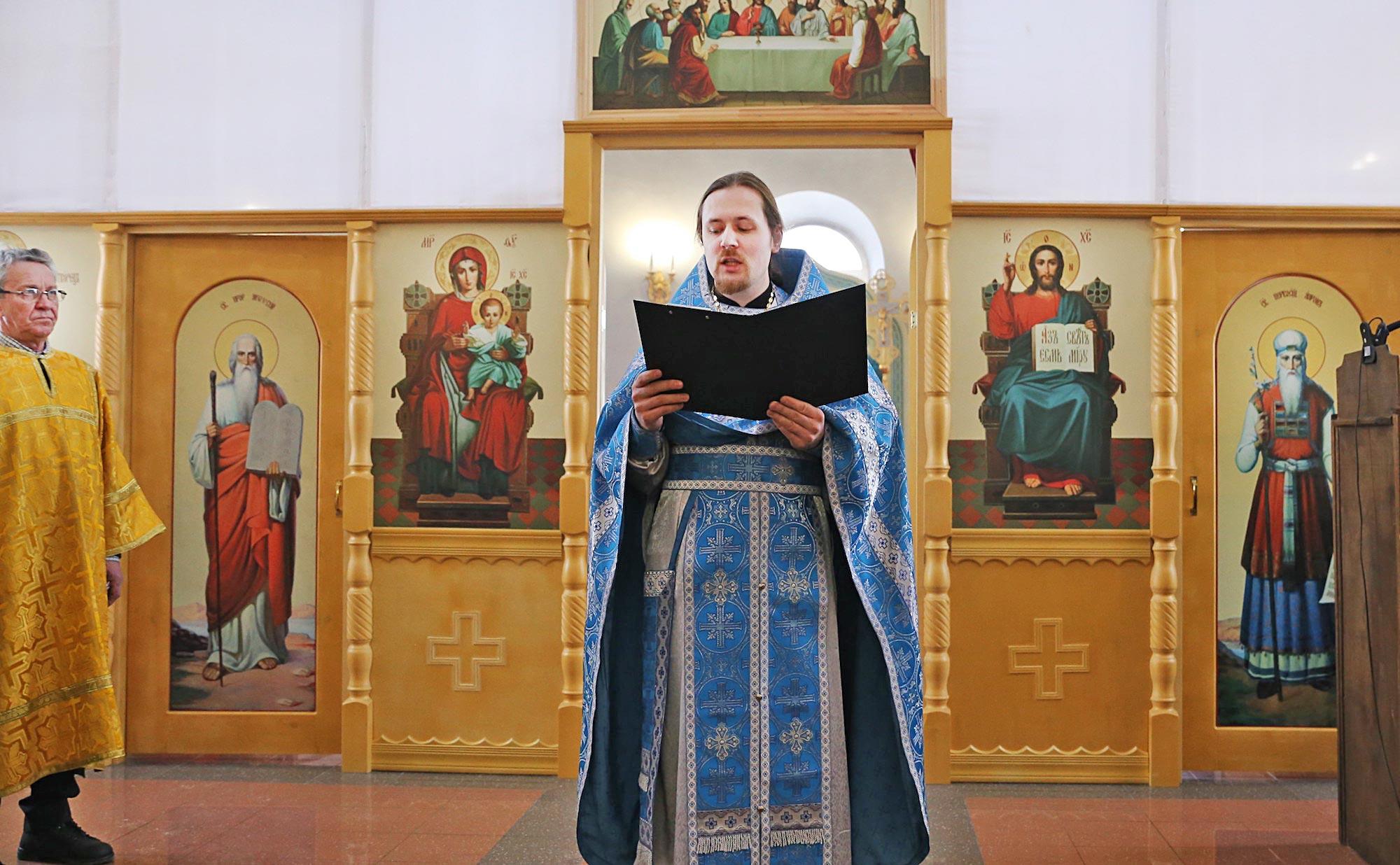 Сретение Господне в Покровском храме с. Никульское