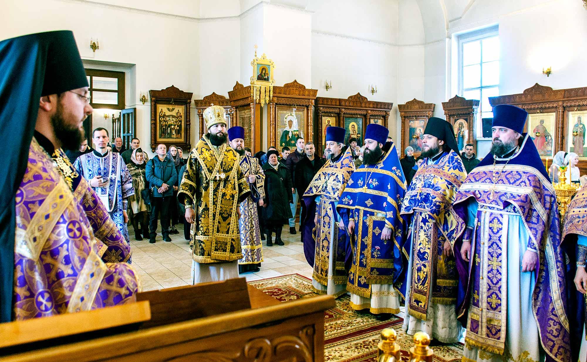 Божественная литургия и панихида в Бобреневом монастыре