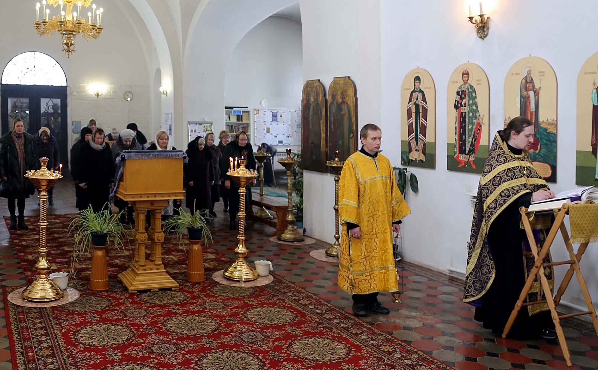 Пассия в Покровском храме с. Никульское