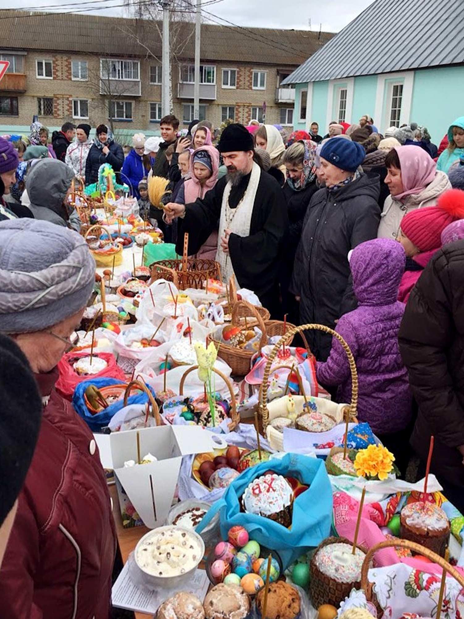 Пасха на приходе Воскресенского храма села Васильево