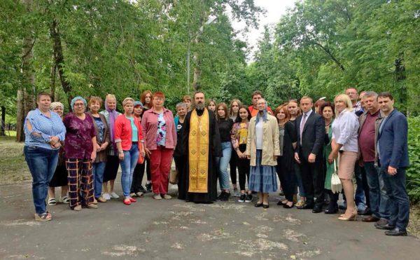 Молебен в детском лагере «Орленок» села Акатьево